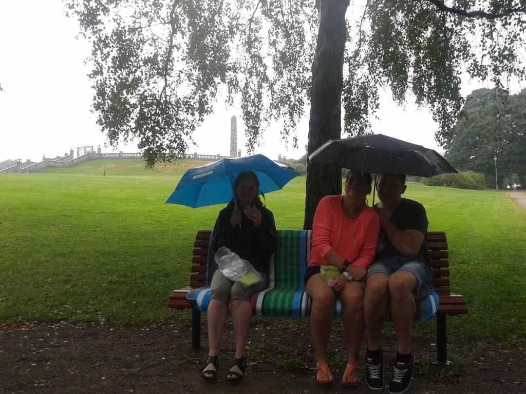Regnfuld dag i Oslo