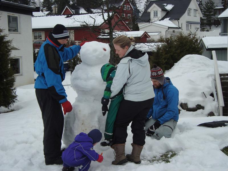 Der bygges snemand