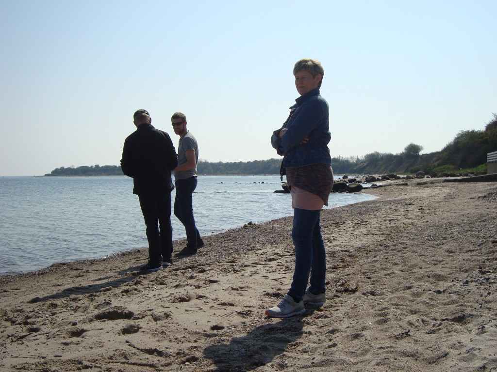 På stranden med Ina og Thorbjørn